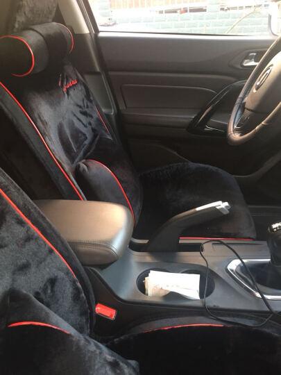 翰静 冬季车坐垫短毛绒座椅垫冬天专用大众速腾迈腾途观哈弗H6博越帝豪GS/GL传祺GS4 豪华版黑色 适用市面上上99%的车型,下单备注车型! 晒单图