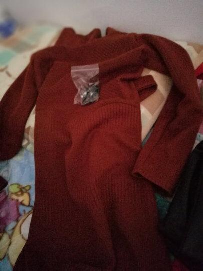 崇媛连衣裙冬针织衫长袖毛呢新品女装2018春秋季大码时尚套装女两件套5825 红色 XL 晒单图