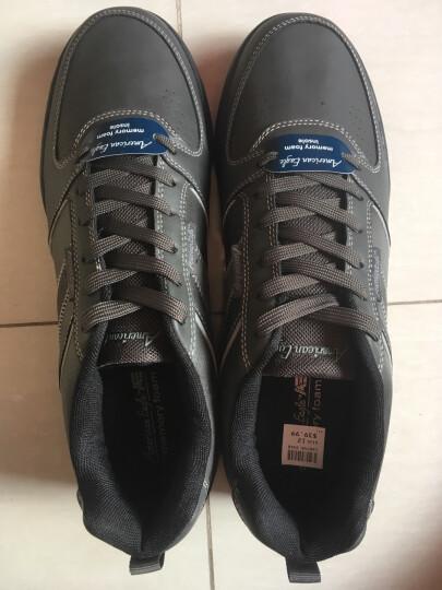 珂梵图原单出口美国男士户外运动休闲鞋英伦低帮韩版复古板鞋40美金 黑灰(运动鞋码) 12=45.5 晒单图