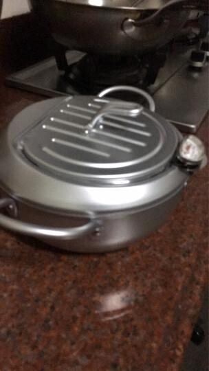 工夫具(KOO FOO GOO) 日本进口天妇罗锅 家庭用健康油炸锅 低油烟带温度计 晒单图