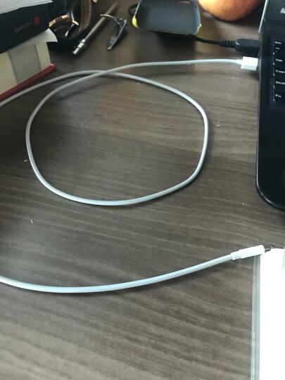 绿联 MFi认证 苹果数据线Xs Max/XR/X/8/7手机快充充电器线USB电源线 支持iphone5/6s/7Plus/ipad 2米20730白 晒单图