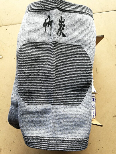 格维朗 护膝运动保暖男女士骑车篮球跑步行竹炭士羽毛足老人半月板盖式薄具腿 灰色丨羊绒款均码 晒单图