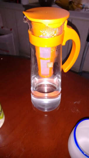乐扣乐扣 玻璃杯 大容量凉水杯子 耐热玻璃果汁杯 啤酒杯 800ml绿色 晒单图