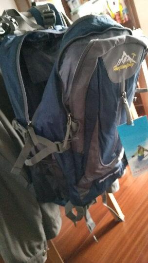 户外尖锋(HU WAI JIAN FENG) 户外旅行背包男女登山包大容多功能双肩包书包 深蓝色  40L 晒单图