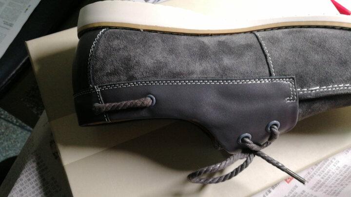 哈森旗下卡文 休闲男鞋圆头系带反绒牛皮软面男士皮鞋 CA34131 黄色 42 晒单图