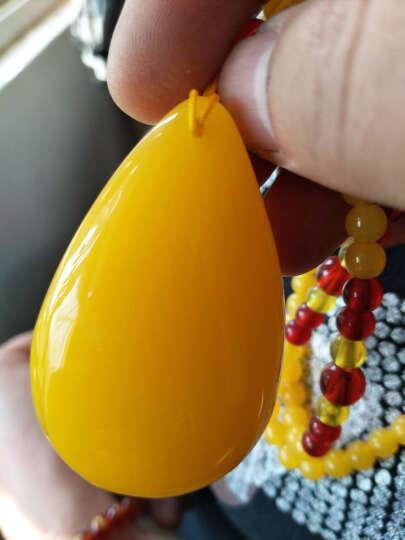 唐大福(TANG DA FU) 二代蜜蜡鸡油黄水滴吊坠蜜蜡毛衣链女款平安扣琥珀挂件项链男 108珠密蜡手珠、串珠、念珠款 晒单图