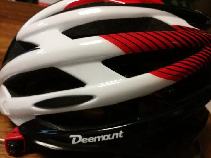 NE&CE 近视可用磁吸式带风镜骑行头盔眼镜一体成型 自行车头盔男女山地车安全帽子带尾灯0000 S头盔红色(磁吸式风镜款) 晒单图