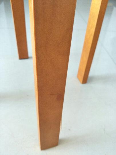 施豪特斯(SHTS)餐椅 经典实木凳子曲木凳折叠凳家用款(2只装)DHST-9820 蜜糖色 晒单图