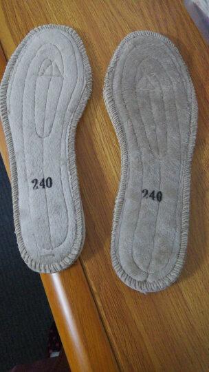黑优防寒军靴鞋垫冬季加厚保暖排湿运动鞋垫毡鞋垫 提示军靴防寒靴拍大一码 41 晒单图