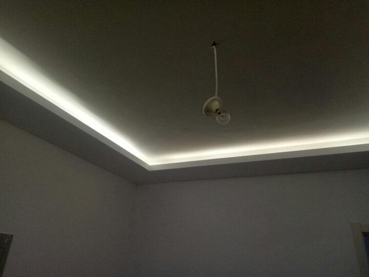 TCL 照明灯带led灯条高亮贴片暗槽灯软彩色灯过道灯装饰灯氛围灯插头 3528灯带 1米/暧白光 晒单图