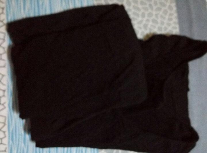 比瘦 保暖内衣云魅惑薄高弹37度恒温塑身衣分体套装 美体性感束身打底秋衣秋裤 黑色 均码(90-130斤) 晒单图
