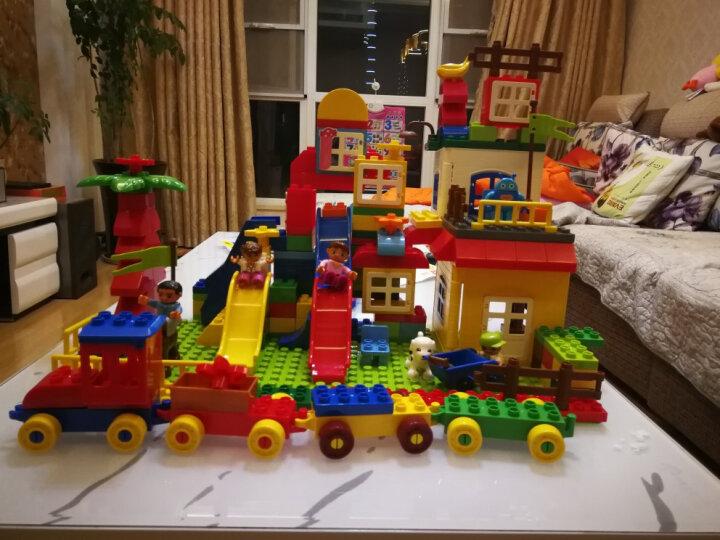 欢乐客 儿童积木玩具 早教启蒙拼装玩具兼容乐高大颗粒益智塑料拼插3-4-5-6周岁我的世界 200颗粒+收纳凳 晒单图