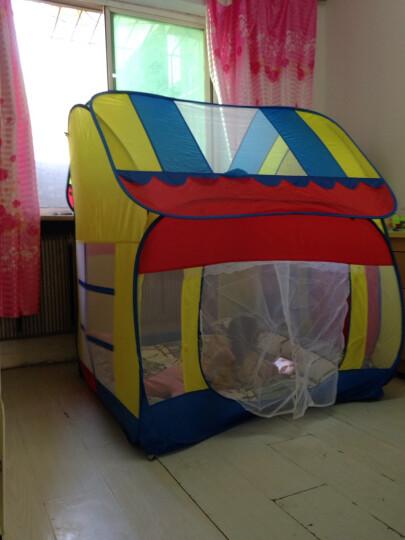 澳乐儿童帐篷安全无味 便携魔术大房子 公主玩具宝宝游戏屋 大房子+300海洋球 晒单图