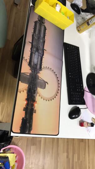 金挚 【买三减一】游戏鼠标垫 动漫卡通游戏图案垫cf lol 鼠标垫超大加厚锁办公桌键盘垫 世界地图900*400MM锁边 晒单图