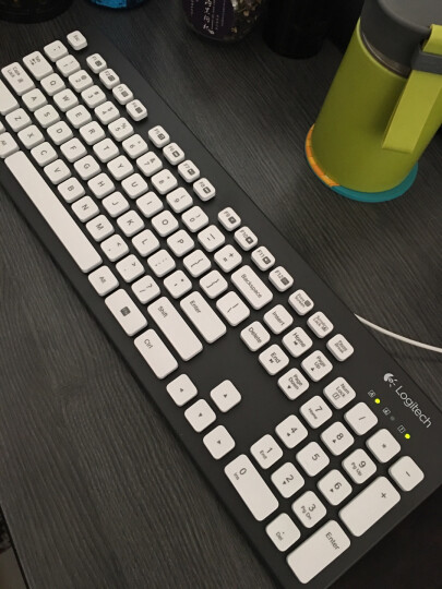 罗技(Logitech)K310 键盘 有线键盘 办公键盘 女性 防水键盘 全尺寸 黑色 自营 晒单图