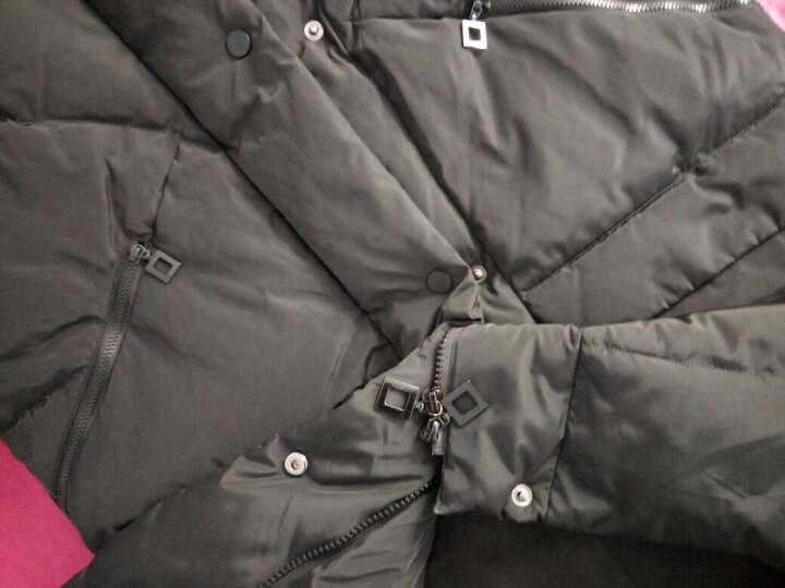 高梵羽绒服女中长款加厚2018秋冬新款韩版修身女装冬季外套 深军绿 155/S  尺码偏大 晒单图