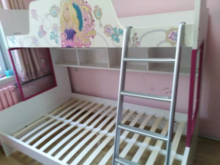 多喜爱儿童床儿童家具 上下床 高低床双层床芭比系列 芭比仙子高低床+梯柜 1.35*2m 晒单图