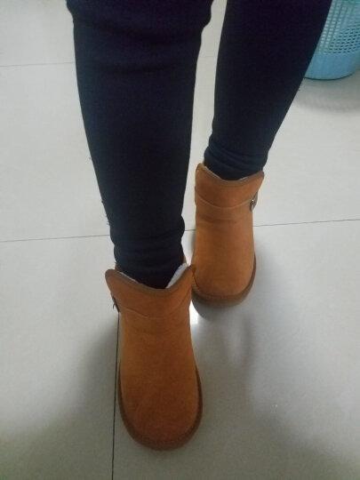 卡叮童 童鞋儿童雪地靴女棉靴子男童真皮棉鞋保暖冬季加绒宝宝冬靴女童 粉色 31码内长19.5cm 晒单图