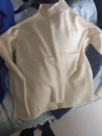于茵  针织衫女2018秋冬季新品高领毛衣女长袖套头基础百搭加厚打底衫JJBE003 绿色 M 晒单图