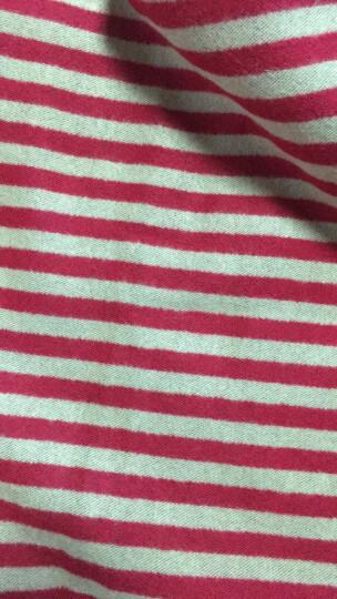 皓顿(HAUTTON)围巾女士秋冬长款休闲时尚条纹披肩两用围脖WJ11红色 晒单图