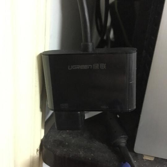 绿联(UGREEN)DP转VGA/HDMI转换器 4K高清DisplayPort转接头线 台式机电脑显卡接电视显示器视频线 黑 40367 晒单图