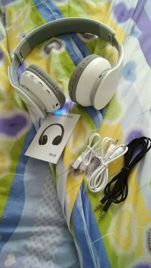 Figma TM06 蓝牙耳机双耳无线头戴式运动插卡折叠便携立体声重低音音乐耳麦游戏手机电 白色 晒单图