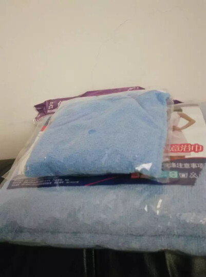 名佑 浴巾 百变浴巾 可穿浴巾 强吸水百变魔术浴袍 多款选择  男女通用款 蓝色 W 晒单图