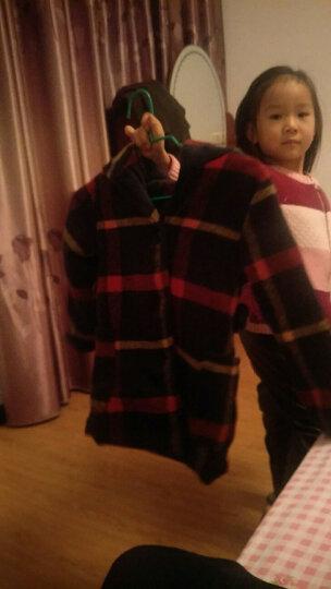 两件套 毛毛逗童装女童套装儿童秋冬装毛呢外套大衣+加绒皮裤中大童格子呢大衣连帽小孩冬季衣服 两件套 120码建议110cm左右穿 晒单图
