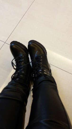 莱卡金顿(LAIKAJINDUN) 内增高女靴秋冬季新款英伦风短靴松糕厚底时尚马丁靴女鞋 BN1775-1红色 37 晒单图