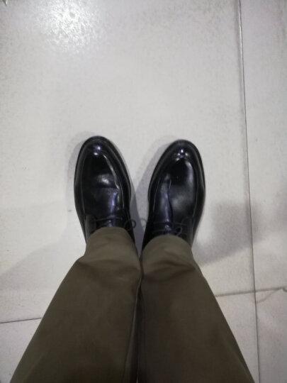 奥康男鞋皮鞋春夏季工作结婚商务休闲鞋男头层牛皮舒适正装鞋镂空凉鞋男 单鞋 黑色 353118031 39 晒单图