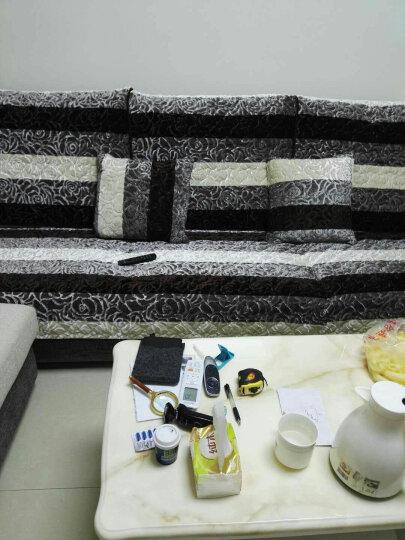 沙发垫套装冬季毛绒沙发套坐垫沙发巾 重复下架 条纹玫瑰绒-米色 90*90cm一片 晒单图