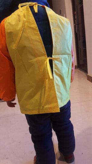 柠檬宝宝lemonkid新款儿童罩衣女宝宝长袖防水画画衣服反穿衣吃饭衣LE160101绿色收音机L 晒单图
