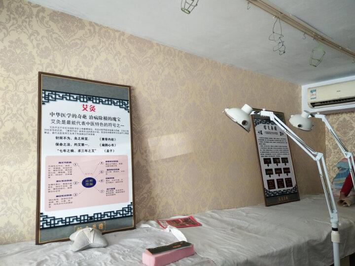 爱柏壁纸简约欧式大马士革无纺布壁纸云3D浮雕植绒撒金电视背景墙纸书房餐厅温馨卧室客厅酒店宾馆满铺壁纸 8678粉红色 晒单图