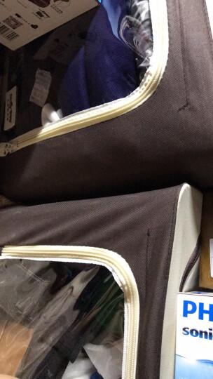 百草园(bicoy)牛津布衣服收纳箱 衣物整理箱储物箱56L+66L 1大1中 咖色 晒单图