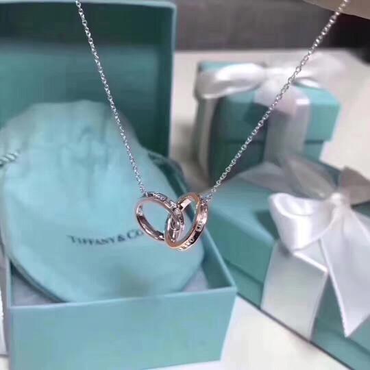 Tiffany & Co.蒂芙尼项链925银双环银女士项链锁骨链 TGRP02386 晒单图