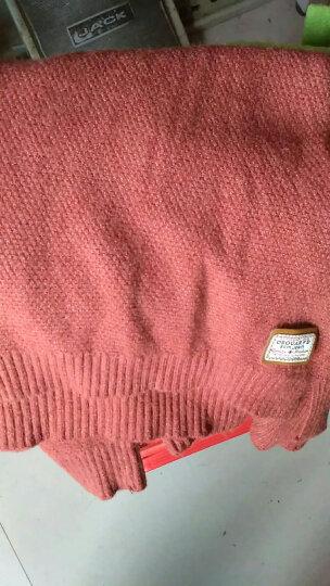 南极人 打底衫女2018秋冬季新品宽松大码女装简约长袖套头弹力女装 Z1501 酒红 XL 晒单图