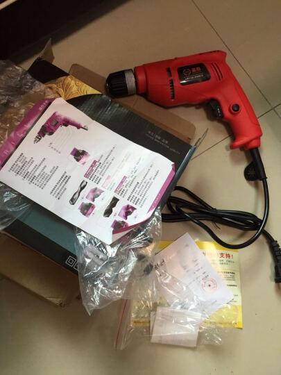 圣泰小手钻微型电钻手电钻正反转家用手枪钻机 电动螺丝刀220v 工具箱 精品版(红色)+钻头套 晒单图