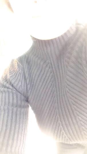 11.11狂欢优惠价--半高领毛衣女秋冬短款瘦身长袖套头针织衫上衣加厚打底衫冬---888 酒红色 XL. 晒单图