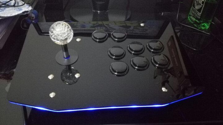 VOIA 无延迟街机摇杆电脑摇杆USB游戏摇杆97拳皇游戏机手柄 K2无光版黑白 晒单图