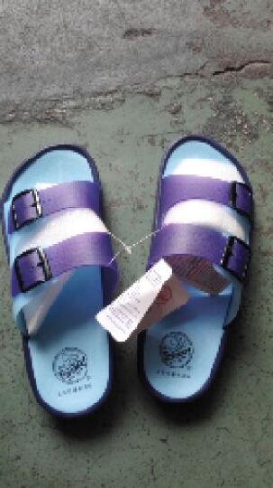 回力夏季拖鞋时尚百搭厚底一字拖男女款舒适沙滩鞋潮流平底凉拖鞋 黑色-男款 43 晒单图