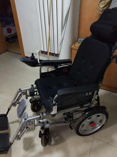 晨越电动轮椅车老年人残疾人电动代步车四轮车折叠轻便全躺可抬腿智能轮椅手动电动两用 全躺豪华款-减震-智能刹车-12Ah铅酸 晒单图