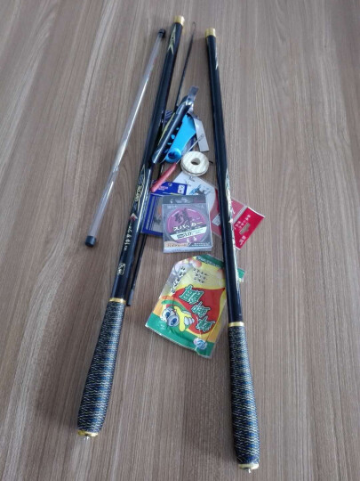 刀客(ONLON) 刀客手竿正品钓竿鱼竿溪流竿3.6/4.5/5.4超轻硬碳素渔竿钓鱼竿 玛瑙黑5.4米+香槟色4.5米送礼包 晒单图