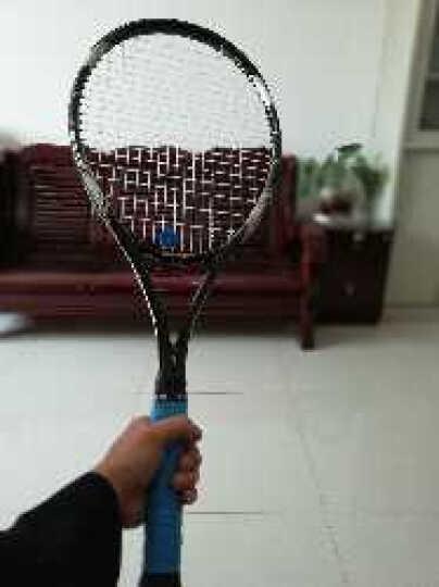 百斯锐(Bestray) 网球拍男女套装 初学单人碳素网拍 超轻 (已穿线) 黑金 晒单图