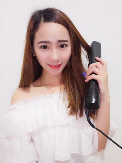 lena 卷发棒直发器电吹风美发梳子 直发卷发两用懒人电卷梳 LN-905 晒单图