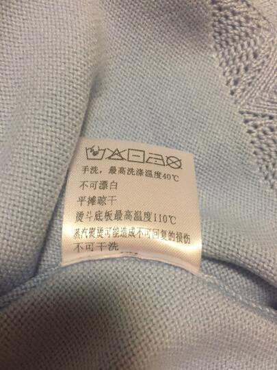 熙世界针织衫女2018秋冬季新款保暖打底衫高领加厚套头毛衣104LA420 浅灰色 XS 晒单图