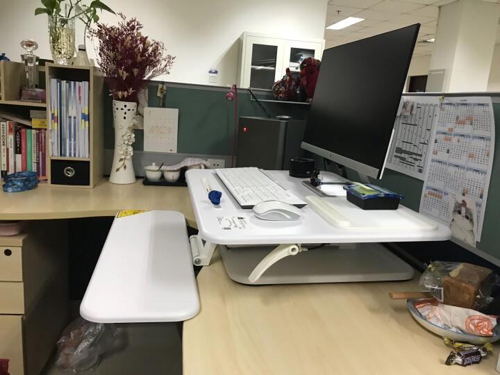 乐歌(Loctek)M3S白 站立办公笔记本台式电脑桌移动折叠坐站显示器工作台书桌 晒单图