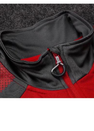 速胜秋冬新款长袖足球服男款运动套装皇马曼联阿森纳跑步训练服高领足球服 比利时灰色 XL(180-188CM) 晒单图