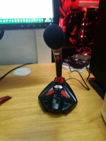 科普斯 K1 USB台式电脑麦克风 K歌录音笔记本 电容话筒 游戏YY聊天专用 黑红 晒单图