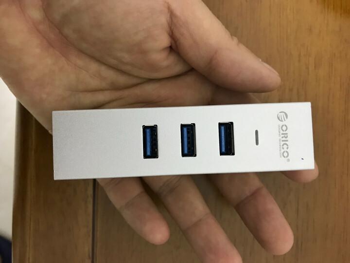 奥睿科(ORICO)ASH3L-U3 USB3.0分线器转千兆网卡+3口全铝HUB笔记本集线器 银色 晒单图