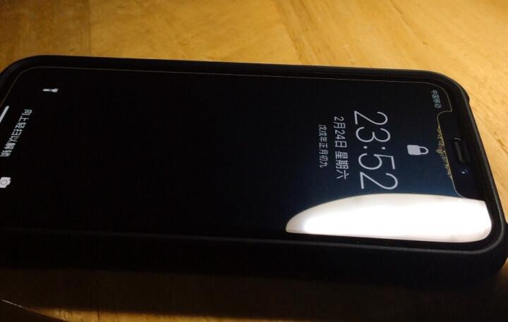尼绅 苹果X/XS钢化膜 iphone x/10/xs max防窥膜7D全屏高清手机保护贴后膜磨砂 苹果x/xs【真7D全屏隐形膜-抗蓝光】【酷睿黑】 晒单图